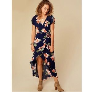 Altar'd State Floral Kaduna High Low Maxi Dress